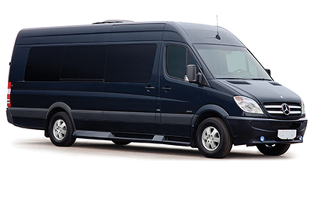 Mercedes Sprinter transportation vehicle.
