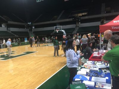 Eastern Michigan athletics summit vendor booths