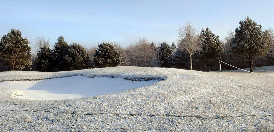 Snowy Golf Course