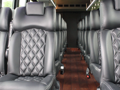 Golden Limo Interior Leather Seats with Seat Belts